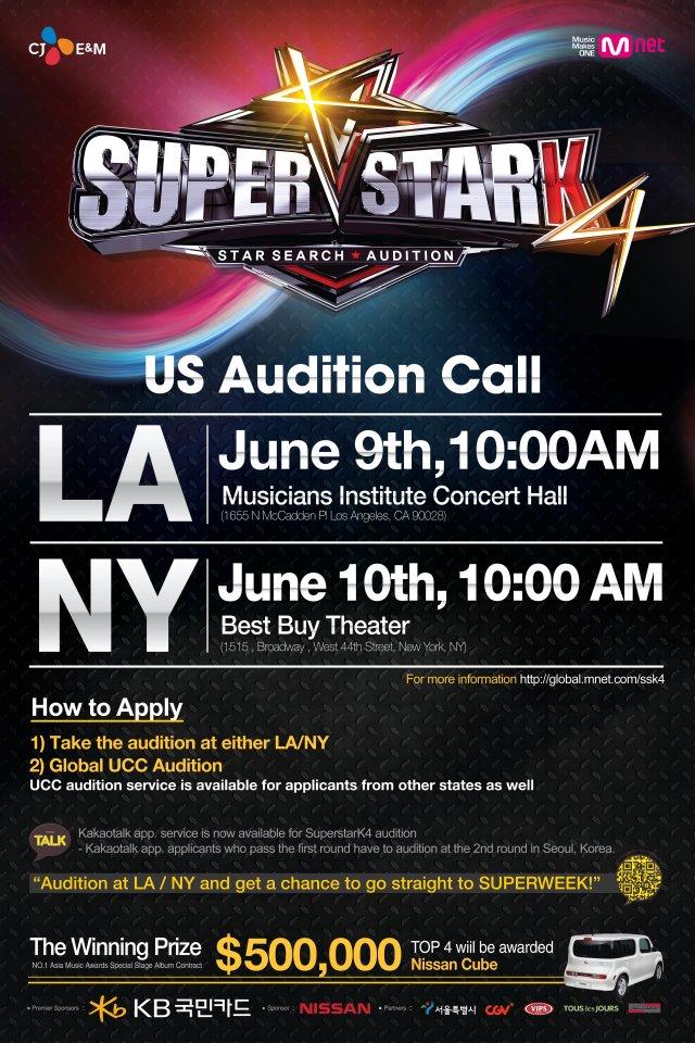 Mnet 4th mission - Superstar K 4 US Audition Calls